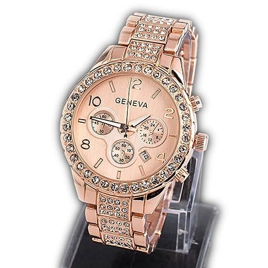 afeb34412e6 Watch, Womens Watch, Fashion Geneva Analog Alloy Quartz Wrist Watch Retro  Exquisite Luxury classic Bracelet Casual business Watches For Ladies Teen  Girls