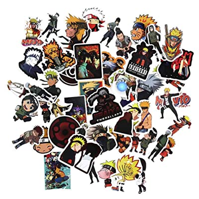 Quero Jom91 50 Pcs Naruto Stickers Graphics Decal for Car Skate Skateboard Laptop: Home & Kitchen