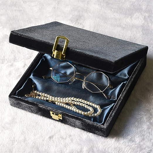 Joyero de terciopelo vintage, expositor para gafas de sol, caja de ...