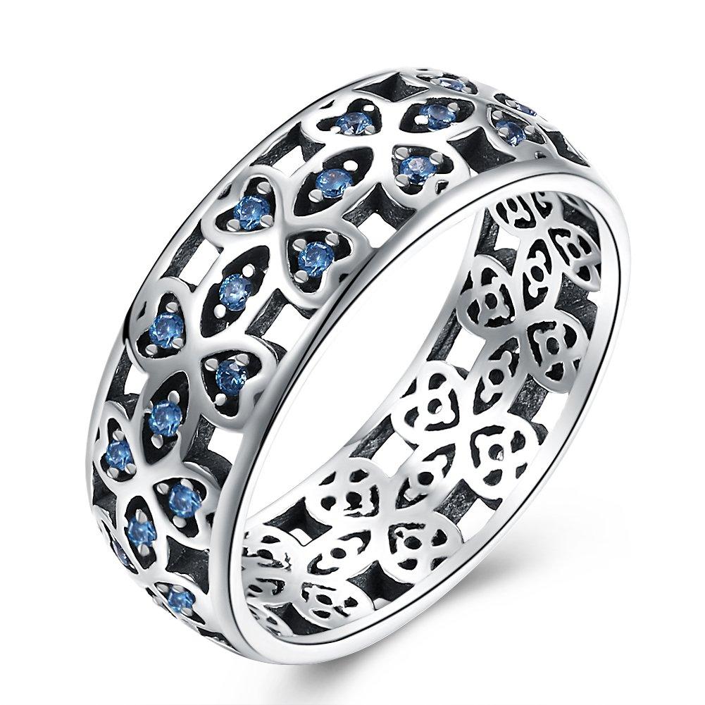 YJEdward Elegant Simulated Diamond Ring Fashion 925 Silver Wedding Gift Party Wear (8)