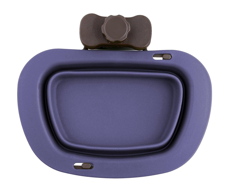 Purple Dexas Popware Collapsible Fold Up Pet Kennel Bowl 2.5 Cups, 20 oz, Purple