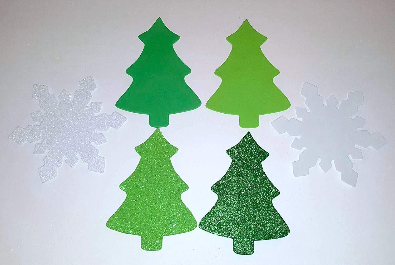 Nikkis Knick Knacks Set of 36 Large Foam Christmas Trees