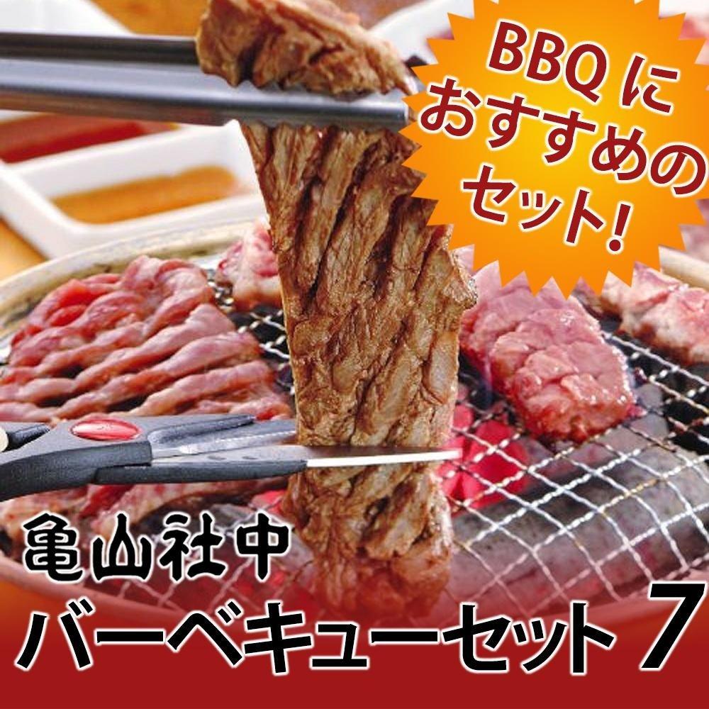 亀山社中 焼肉 バーベキューセット 7 はさみ説明書付き 軽食品 肉肉加工品 ab1-1092684-ah [簡素パッケージ品] B075ZSNHNF