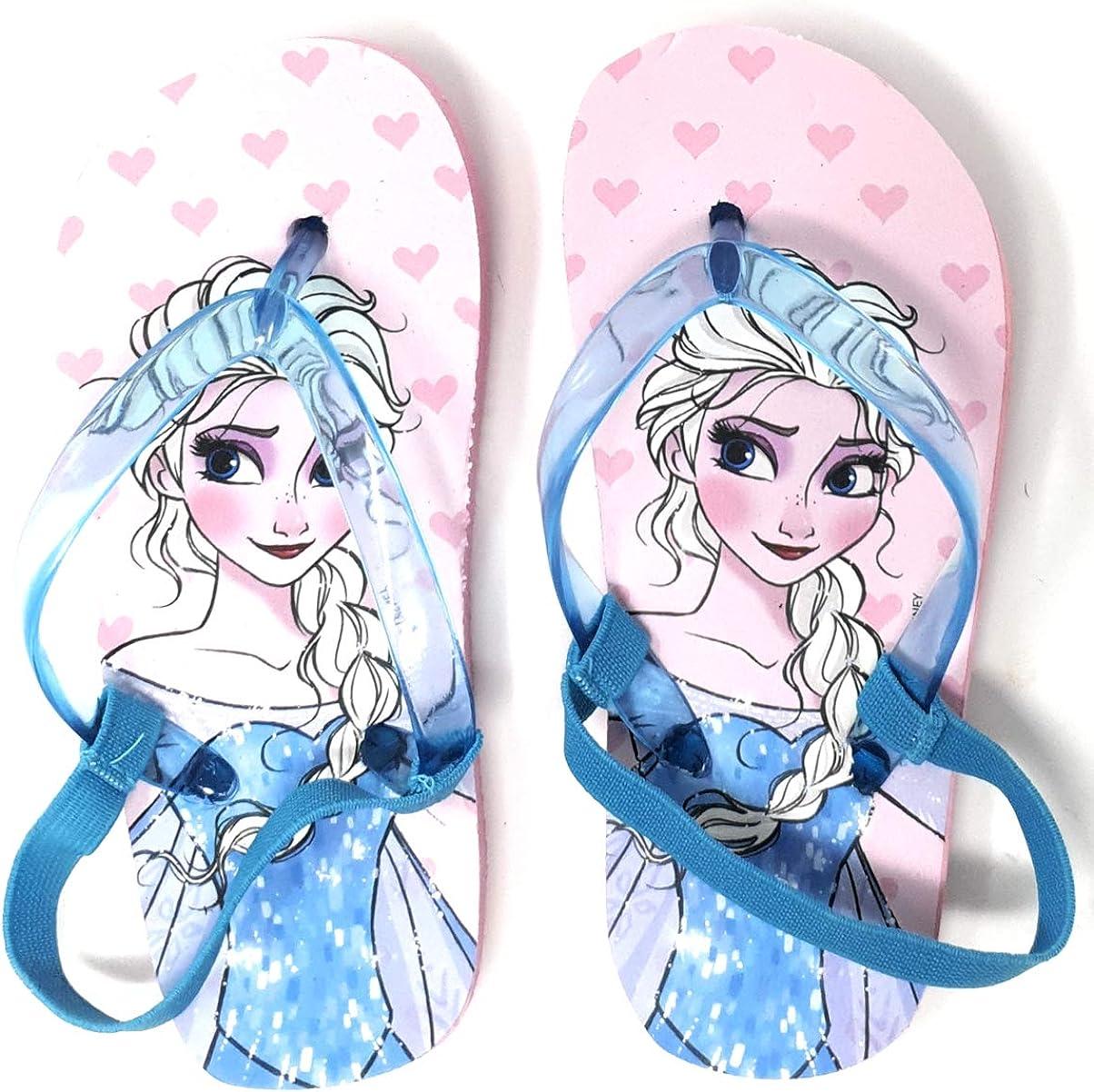 Rose, Numeric/_24 Tongs avec /élastique Enfant Fille La Reine des neiges Elsa Rose et Bleu du 24 au 29