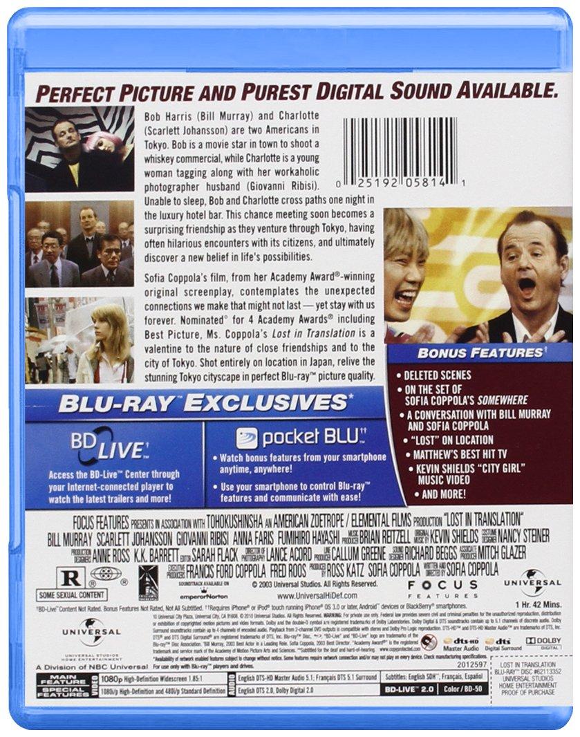 Lost in Translation [Reino Unido] [Blu-ray]: Amazon.es: Fumihiro Hayashi, Scarlett Johansson, Bill Murray, Akiko Takeshita, Kazuyoshi Minamimagoe, ...