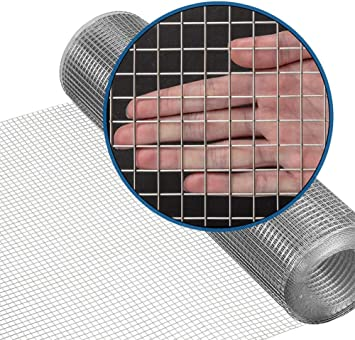 Amagabeli 36inch X 50ft Ss304 Stainless Steel Welded Wire Mesh 1 2 Inch Square Hardware Cloth 18 Gauge Ideal For High Grade Diy Cages Rodent Mesh Cabinets Wire Mesh Window Screen Mesh Amazon Com