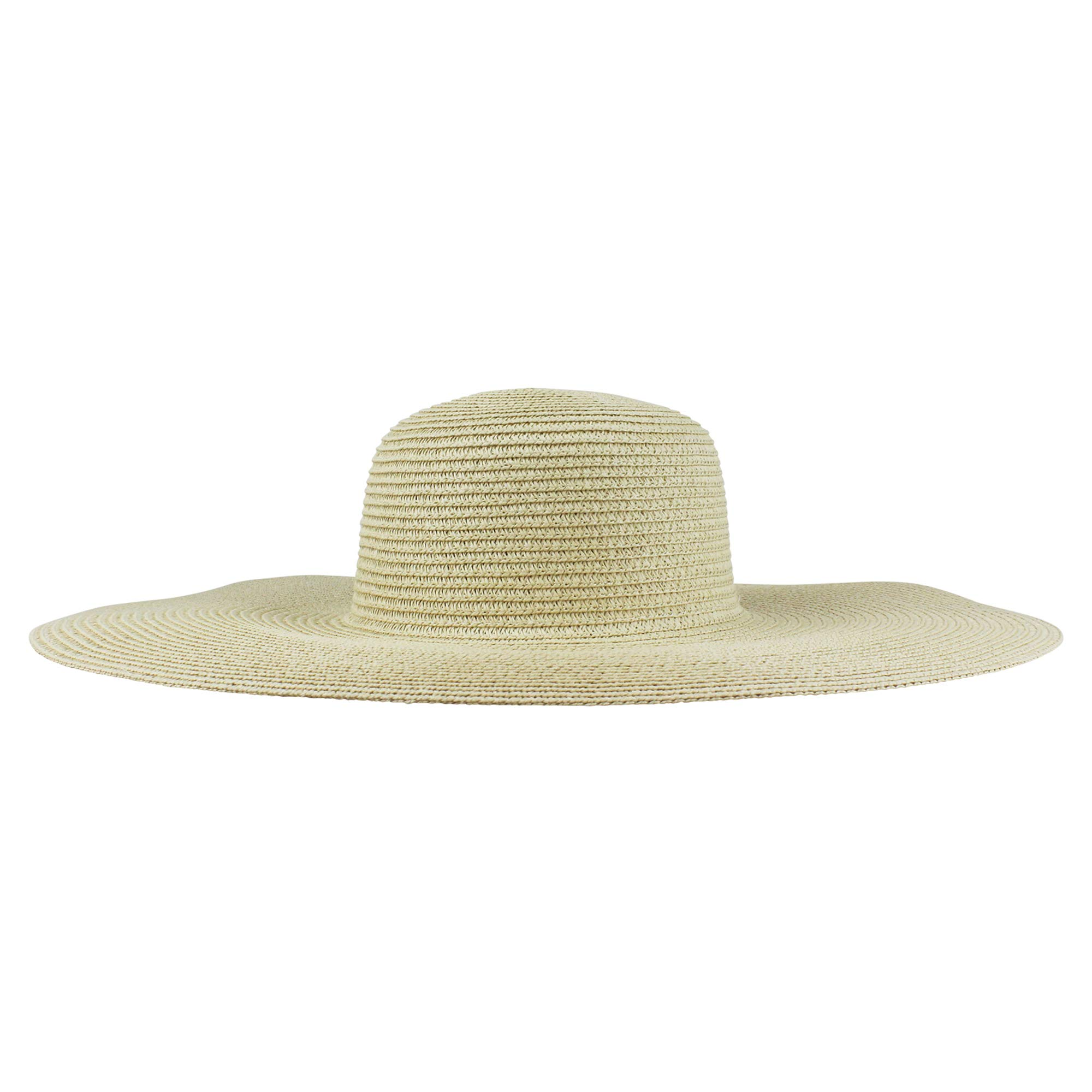 62327c36dec Custom Womens Floppy Sun Straw Hat with Black Band - Embroider Your Own  Words