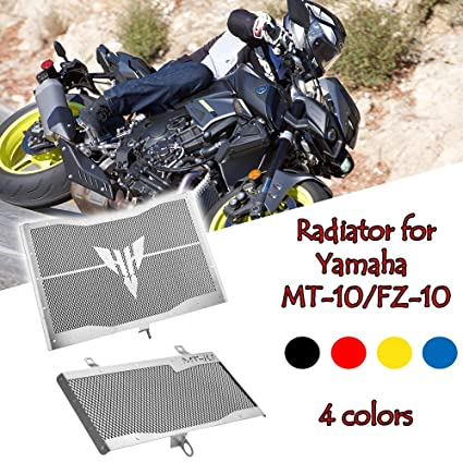 Fatexpress Motorcycle Stainless Steel Aftermarket Radiator Guard Grill Cover Oil Cooler Bezel Protector Grille Protection For 2016 2018 Yamaha Mt Fz
