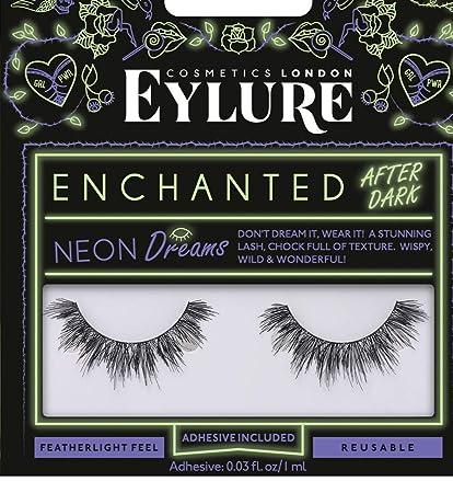 ab2d07d9197 Amazon.com : Eyelure False Lashes Enchanted After Dark Neon Dreams Black  Lashes : Beauty