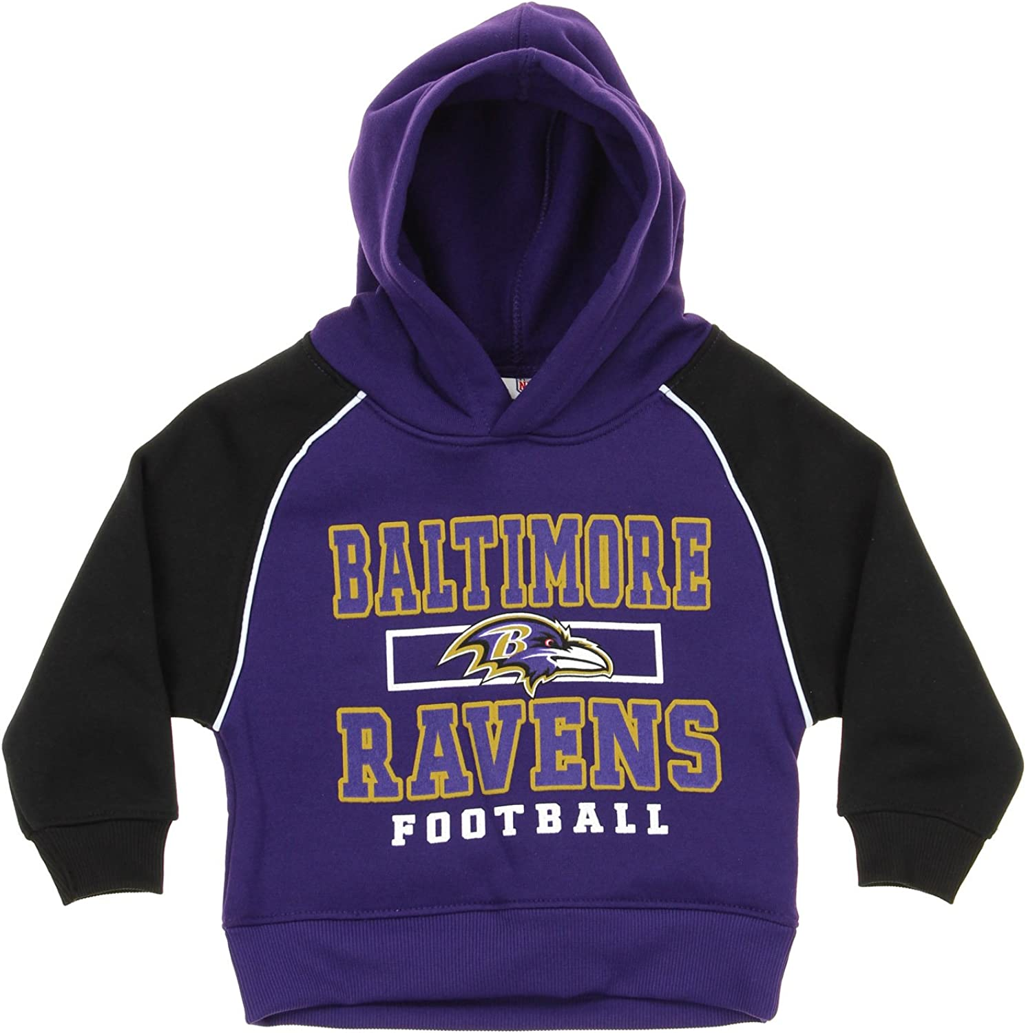 NFL Infant Toddlers Baltimore Ravens Performance Pullover Fleece Hoodie