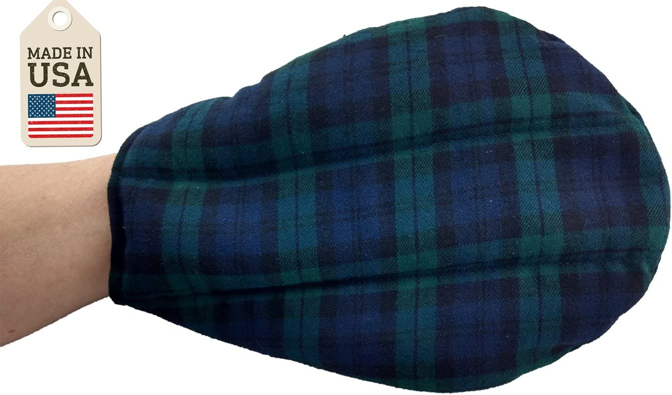 The Hand Mitt - Hot or Cold Therapy Pack - Black Watch Plaid