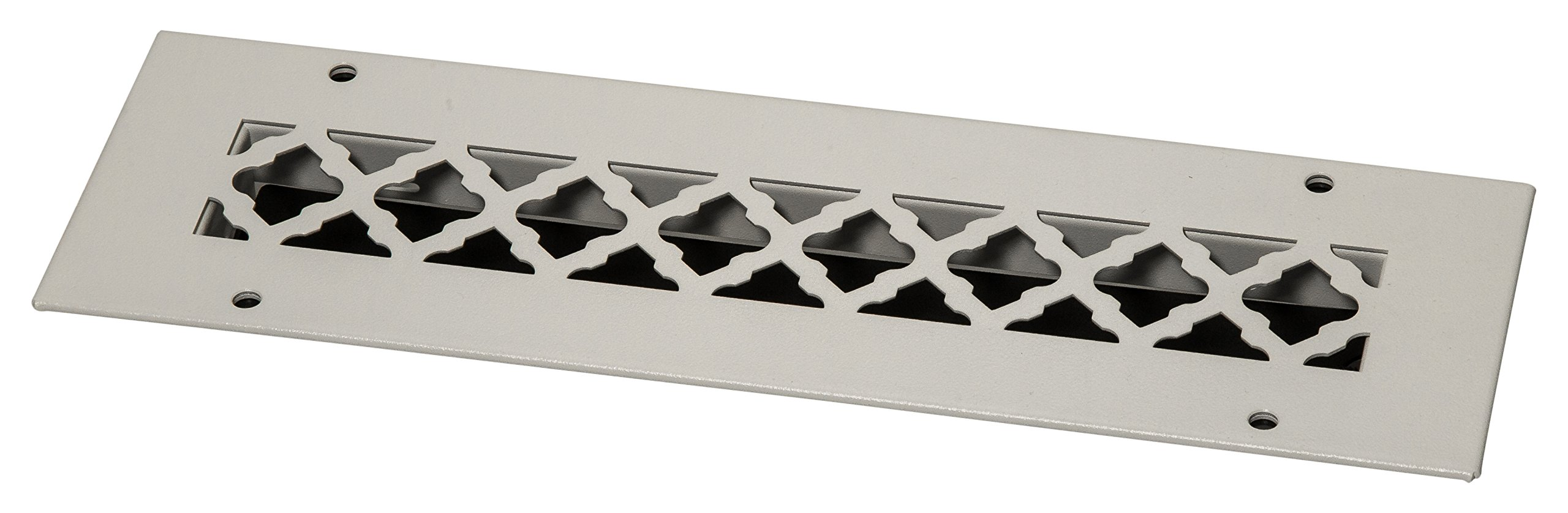 SteelCrest BTU12X2.25SWHH Bronze Series Designer Wall/Ceiling Vent Cover, with Air-Volume Damper, and mounting Screws, White