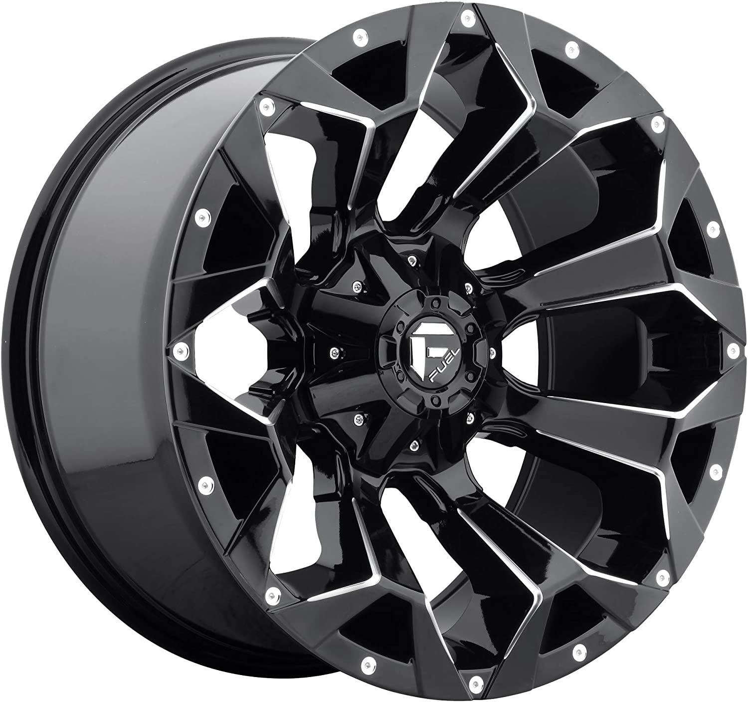 12mm Offset and a 106.4 Hub Bore Partnumber D57617909845 Rim 6x135 /& 6x5.5 with a Fuel Assault 17x9 Gloss Black Wheel