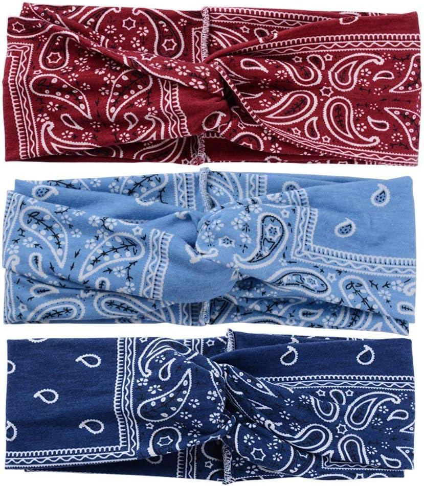 diademas para mujeres nudo giratorio para yoga//baile//carrera//viaje turbante estilo floral vintage envoltura para la cabeza diadema de humedad el/ástica Diademas para mujeres paquete de 10