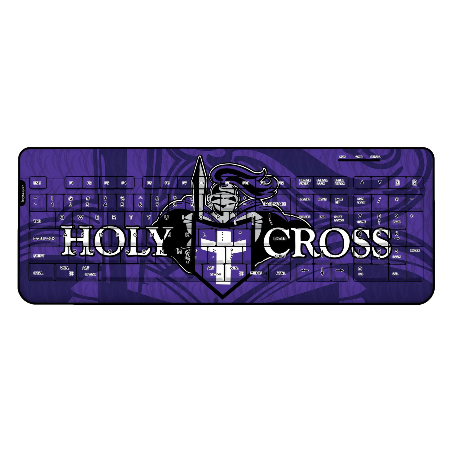 Holy Cross Crusaders Wired USB Keyboard NCAA by Keyscaper