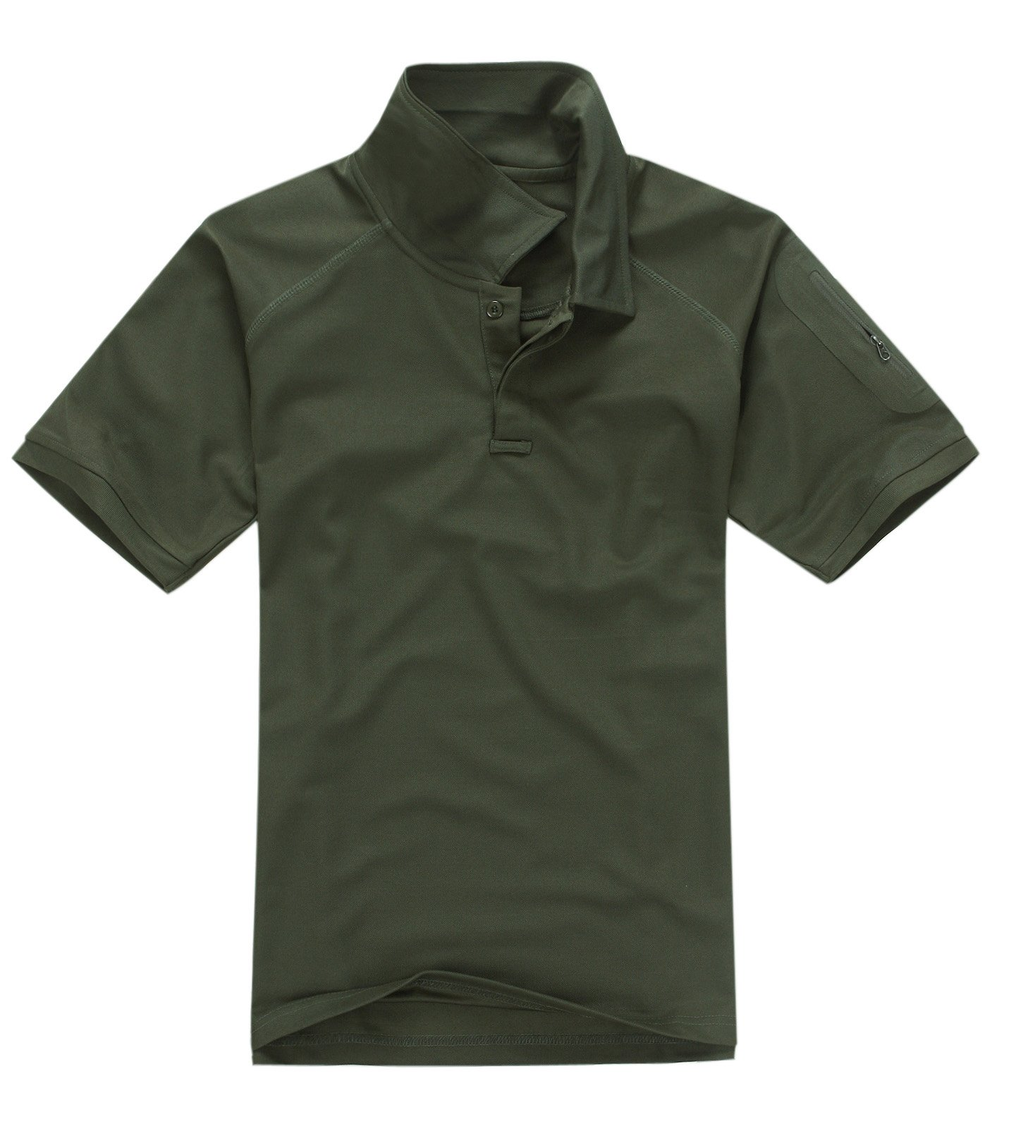 MAGCOMSEN Men's Polyester Lightweight Polo Shirt Short Sleeve Pullover,Army Green Color