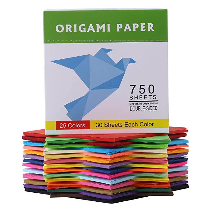 Amazon Doura Origami Paper 750 Sheets Economy Pack With Storage