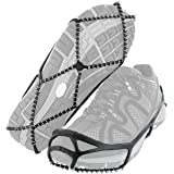 Third A Traction Cleats Anti Slip Ice & Snow Grips Over Shoe Boot Traction Cleat Rubber Spikes Chain Ice Grips for Walking, Jogging, or Hiking on Snow and Ice