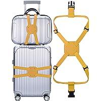 Yougge 旅行便利グッズ バッグとめるベルト スーツケース ゴムバンド 多用 調整可能 軽量 荷物用弾力固定ベルト ずり落ち防止