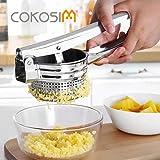 Presse-purée, COKOSIM Masher Ricer à la pomme de terre en acier inoxydable de 10 pouces pour la presse alimentaire des fruits