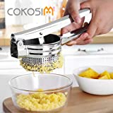 COKOSIM 10 Inch Stainless Steel Large Potato Ricer Masher for Food Fruit Press