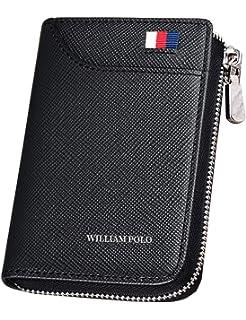 816749c5feab WILLIAMPOLO 財布 メンズ レディース 本革 カードケース コンパクト 人気 ブランド 大容量 多機能 185128