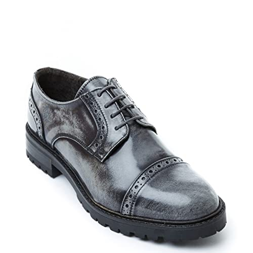 Frank Daniel Scarpa Stringata Derby con Decorazione Toe cap di Colore Grigio.  Toe cap Derby. Donna.  Amazon.it  Scarpe e borse c8da8335a7b