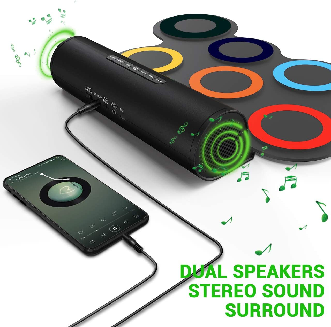 Paxcess 7 Pads dual speakers