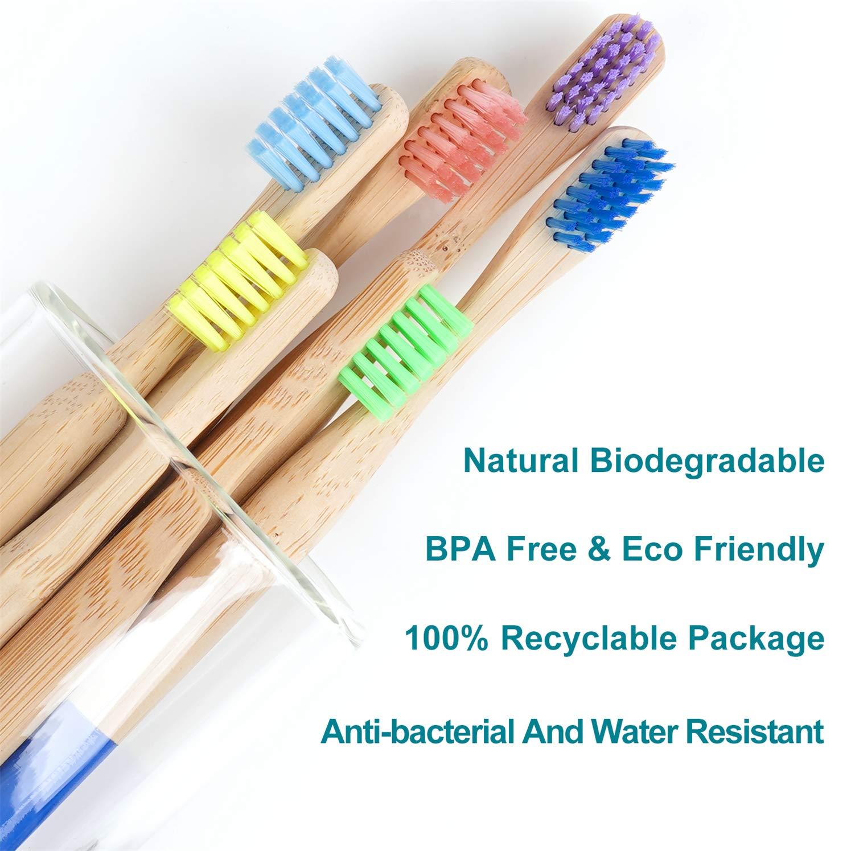 colore multicolore Set di spazzolini da denti per bambini in bamb/ù