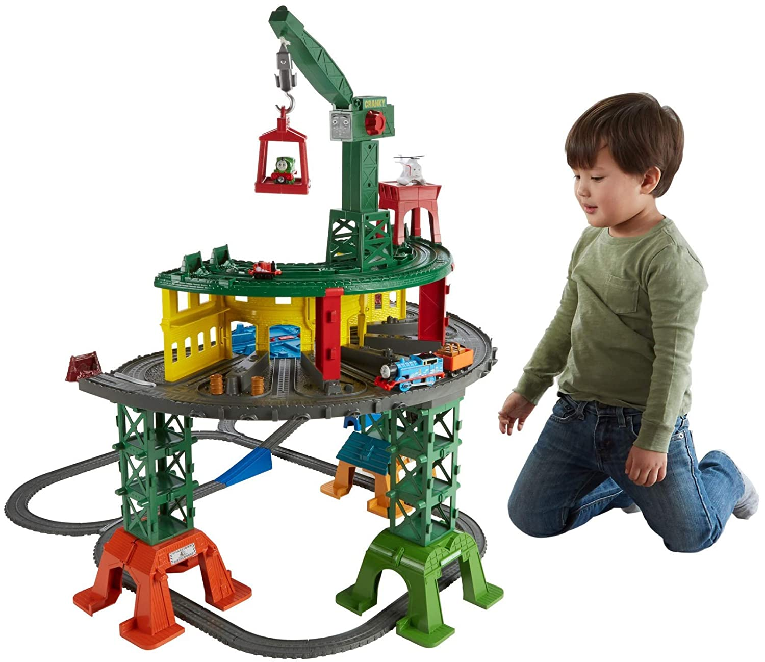 592e30e681aa Amazon.com  Fisher-Price Thomas   Friends Super Station  Toys   Games