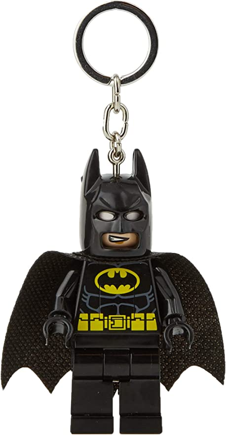 NEW LEGO DC Comic Super Hero BATMAN Minifigure KEYCHAIN w LED Torch Light Lite