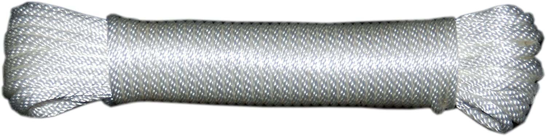 T.W Evans Cordage 44-030 3//32-Inch Solid Braid Nylon Rope 50-Feet Hank