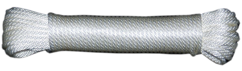Evans Cordage Co. T.W Evans Cordage 44-060 3//16-Inch Solid Braid Nylon Rope 100-Feet Hank T.W