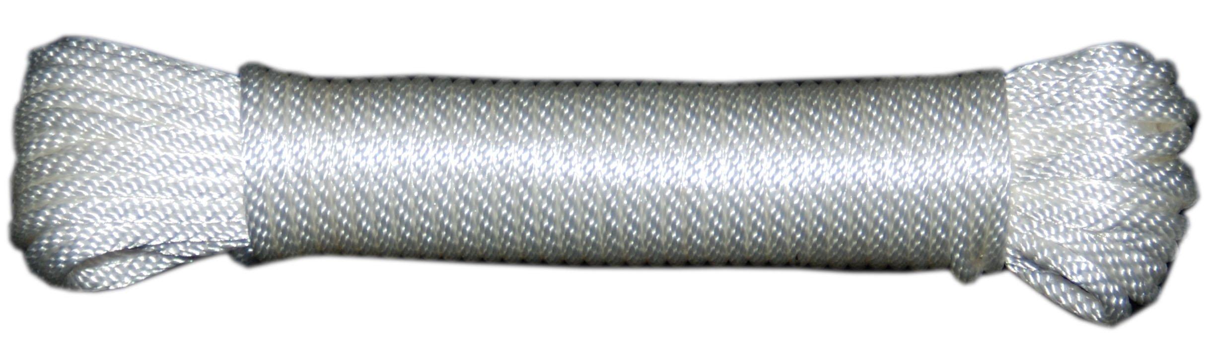 T.W . Evans Cordage 44-060 3/16-Inch Solid Braid Nylon Rope 100-Feet Hank
