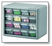 Plastic Parts Storage Drawers Gray