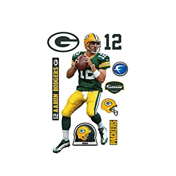 Fathead Aaron Rodgers Green Bay Packers Wall Decal Part 55