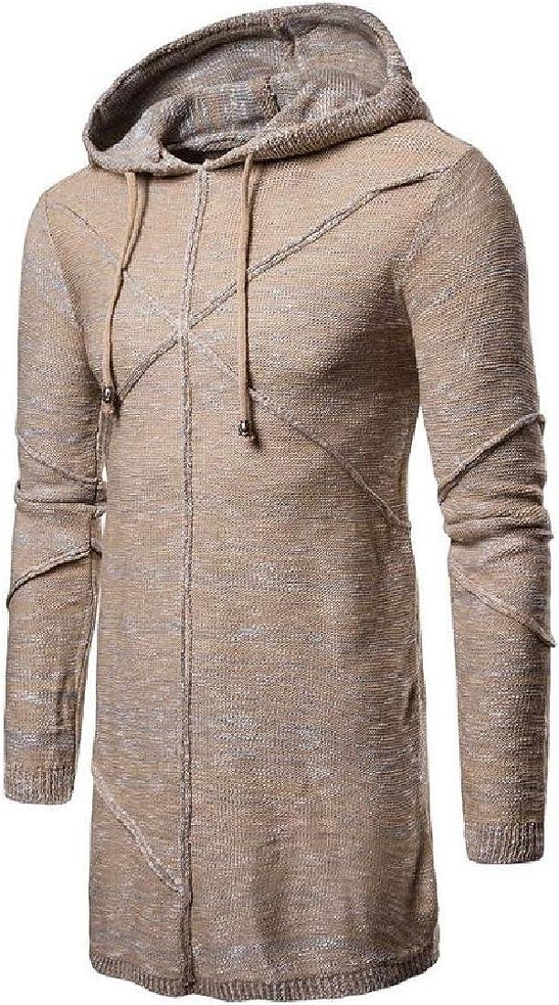 M/&S/&W Men Hipster Pullover Longline Side Zipper Hip Hop Long Sleeve Hooded T Shirt