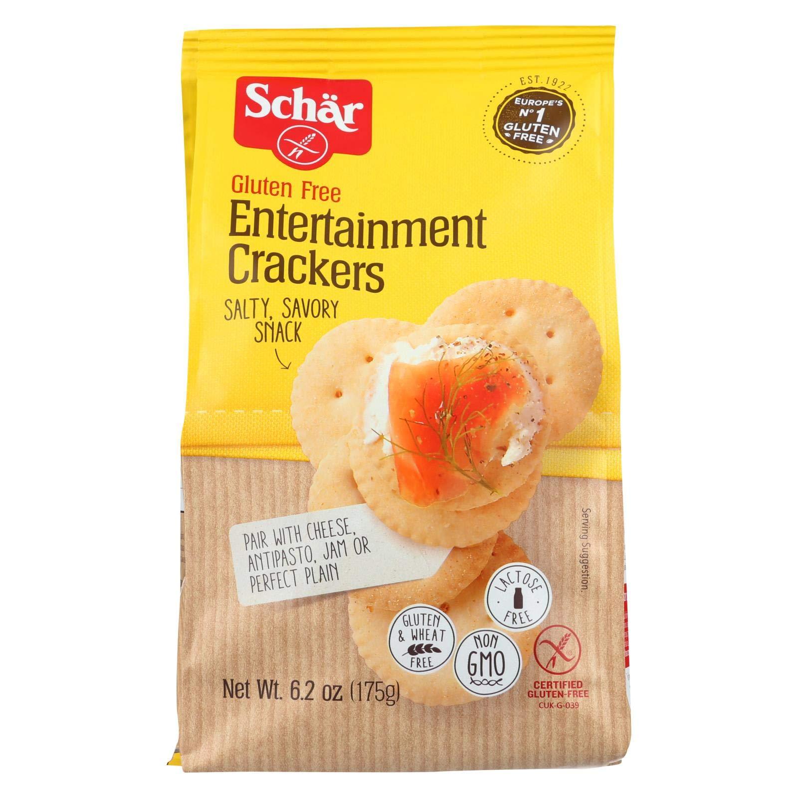 Schar Entertainment Crackers Gluten Free - Case of 6 - 6.2 oz. by Schar