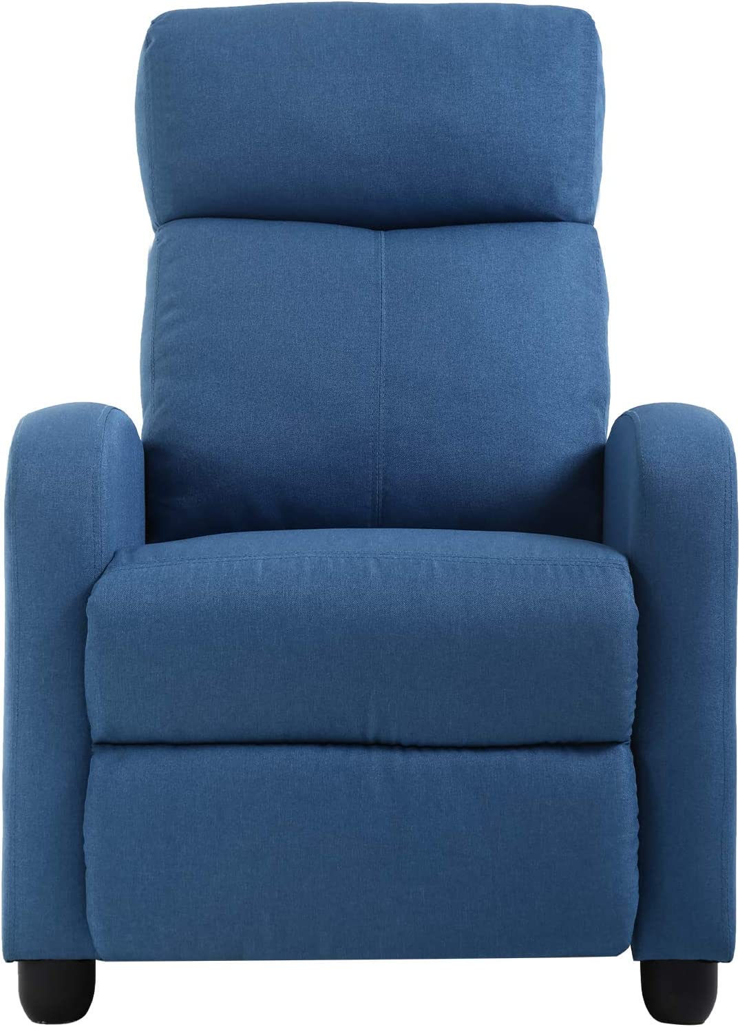 Recliner Chair for Living Room Home Theater Seating Single Reclining Sofa Lounge with Padded Seat Backrest (Blue)