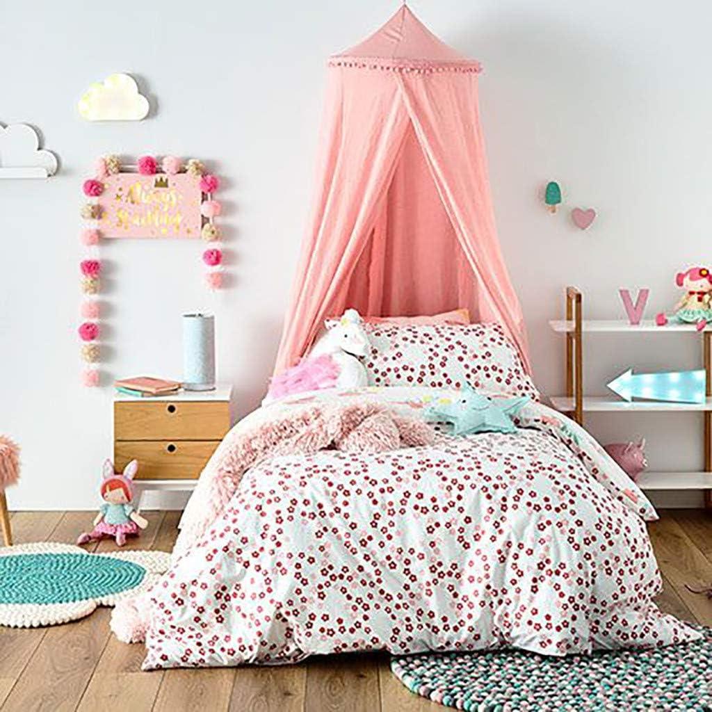 Rose Moustiquaire en Coton Rond Pour Chambre de Jeu D/ôme Princesse Pour B/éb/é XLGX Ciel de lit Pour Enfants