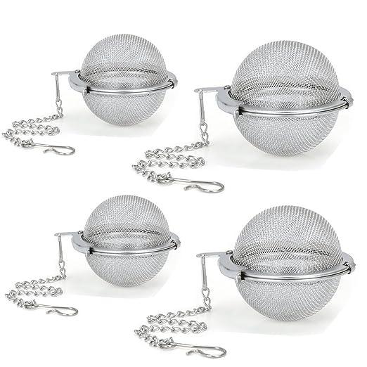 4 piezas de infusor de té con malla de acero inoxidable ...