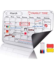 COSFLY Magnetic Dry Erase Calendar for Refrigerator Monthly Planner Fridge Magnets - 16 x 12 inches