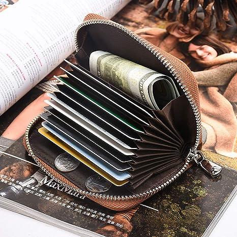 Amazon.com: Badiya - Funda de piel para tarjeta de crédito ...