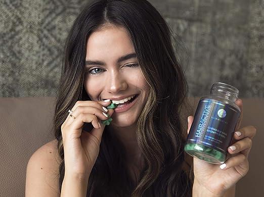 Hairworthy – Acción rápida crecimiento del cabello masticables Vitaminas. Suplemento Natural para el pelo largo con aceite de coco, Biotina y Ácido Fólico.: Amazon.es: Salud y cuidado personal