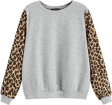 Sudadera Mujer Tumblr, K-Youth Leopardo Sudaderas Adolescentes ...