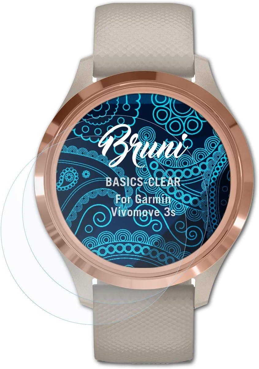Bruni 2x Folie für Garmin Camper 760LMT-D Schutzfolie Displayschutzfolie