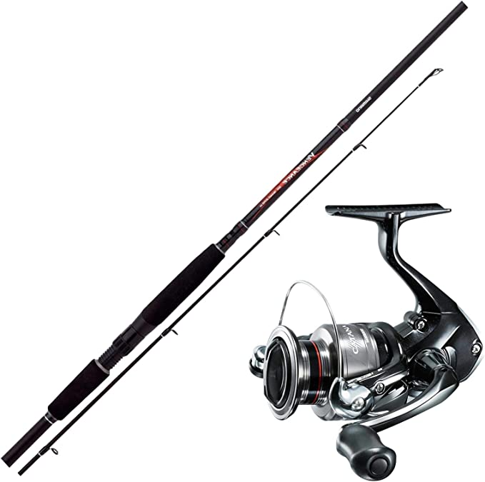 Spinnangeln Combo No3 SHIMANO Angelset Hecht Angeln Rute Rolle