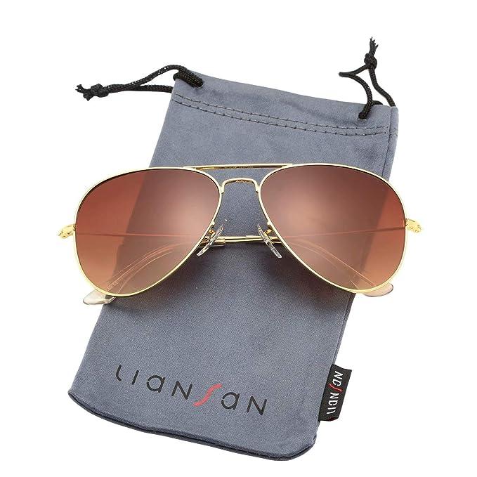 6f2f2511c LianSan Aviator Outdoor Reading Sunglasses Gradient Brown Grey Metal  Bifocal Sunglasses for Men and Women Readers