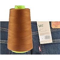 Chengyida 1Bobine fil à coudre pour Jeans 2743,2m machine à coudre industrielle Polyester Jeans Fil à coudre 20S/3–(Jiang Huang)