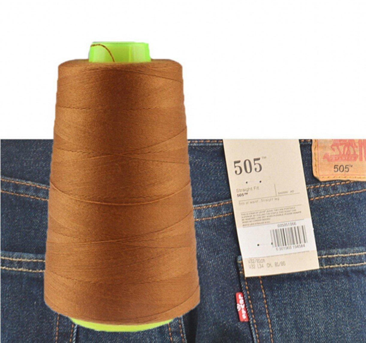 chengyida 1 bobina de hilo de coser para pantalones vaqueros para máquina de coser 3000 yardas Industrial poliéster hilo de coser vaqueros 20s/3 - (Jiang ...